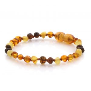 Natural Baltic Amber Teething Bracelet. Baroque LE73