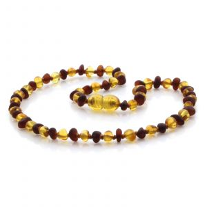 Natural Baltic Amber Teething Necklace. Baroque LE74