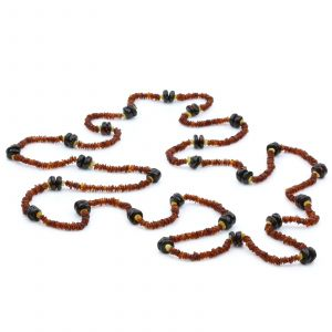 170cm Long Genuine Baltic Amber Necklace for Adult. AGS046