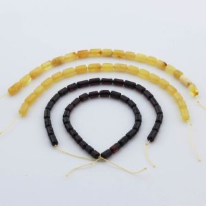 Natural Baltic Amber Loose Beads Strings Set of 4pcs. 22gr. ST1038