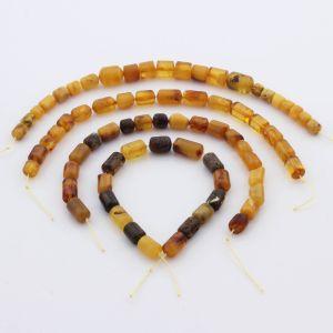 Natural Baltic Amber Loose Beads Strings Set of 4pcs. 40gr. ST1043