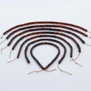 Natural Baltic Amber Loose Beads Strings Set of 7pcs. 21gr. ST1054