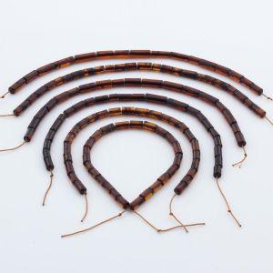 Natural Baltic Amber Loose Beads Strings Set of 6pcs. 26gr. ST1056