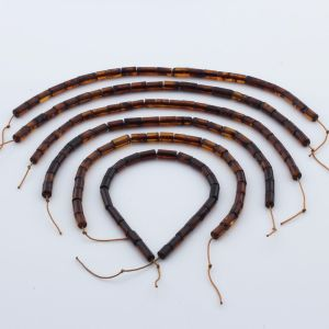 Natural Baltic Amber Loose Beads Strings Set of 6pcs. 24gr. ST1057