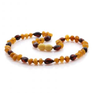 Natural Baltic Amber Teething Necklace. Baroque LE75