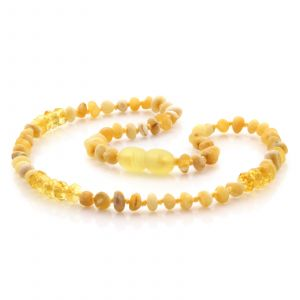 Natural Baltic Amber Teething Necklace. Baroque LE76