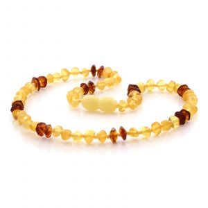 Natural Baltic Amber Teething Necklace. Baroque LE78