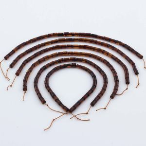 Natural Baltic Amber Loose Beads Strings Set of 6pcs. 21gr. ST1059