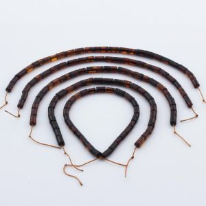 Natural Baltic Amber Loose Beads Strings Set of 5pcs. 20gr. ST1061