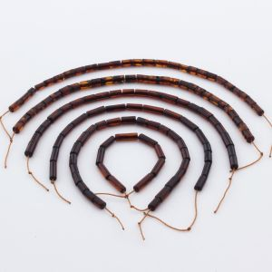 Natural Baltic Amber Loose Beads Strings Set of 6pcs. 22gr. ST1064