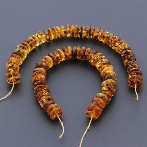 Natural Baltic Amber Loose Beads Strings Set of 2pcs. 34gr. ST734