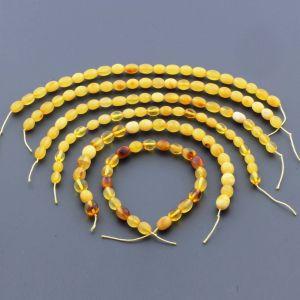 Natural Baltic Amber Loose Beads Strings Set of 6pcs. 50gr. ST1288