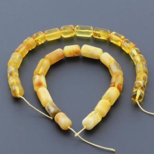 Natural Baltic Amber Loose Beads Strings Set of 2pcs. 19gr. ST742