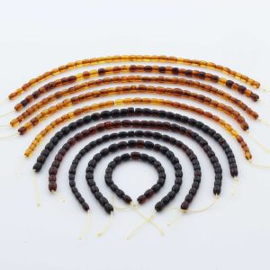 Natural Baltic Amber Loose Beads Strings Set of 10pcs. 30gr. ST1291