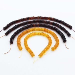 Natural Baltic Amber Loose Beads Strings Set of 5pcs. 45.05gr. ST1356