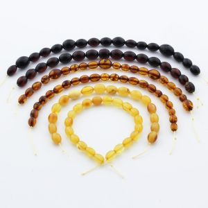 Natural Baltic Amber Loose Beads Strings Set of 6pcs. 47gr. ST1293