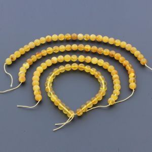 Natural Baltic Amber Loose Beads Strings Set of 4pcs. 28gr. ST943
