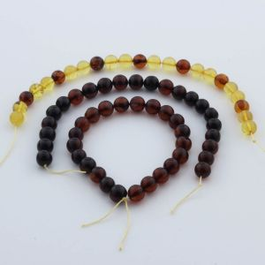 Natural Baltic Amber Loose Beads Strings Set of 3pcs. 28gr. ST946