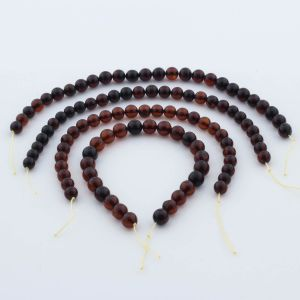 Natural Baltic Amber Loose Beads Strings Set of 4pcs. 28gr. ST949