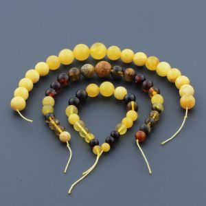 Natural Baltic Amber Loose Beads Strings Set of 3pcs. 29gr. ST950