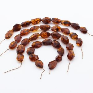 Natural Baltic Amber Loose Beads Strings Set of 4pcs. 81gr. ST1301