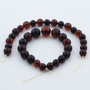 Natural Baltic Amber Loose Beads Strings Set of 2pcs. 30gr. ST958