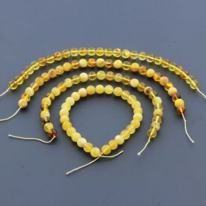 Natural Baltic Amber Loose Beads Strings Set of 4pcs. 27gr. ST961