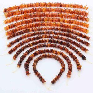 Natural Baltic Amber Loose Beads Strings Set of 12pcs. 125gr. ST1311