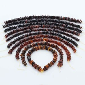 Natural Baltic Amber Loose Beads Strings Set of 10pcs. 95gr. ST1312