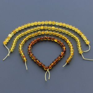 Natural Baltic Amber Loose Beads Strings Set of 4pcs. 20gr. ST966