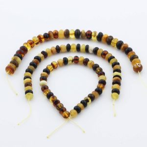 Natural Baltic Amber Loose Beads Strings Set of 3pcs. 29gr. ST1087