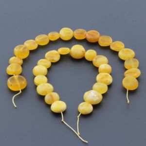 Natural Baltic Amber Loose Beads Strings Set of 2pcs. 27gr. ST763