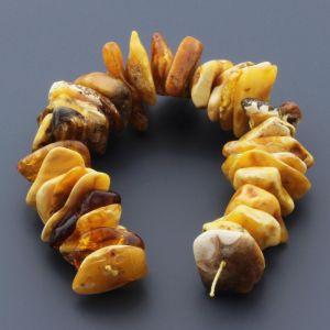 Natural Baltic Amber Loose Beads Strings Set of 1pcs. 45gr. ST764