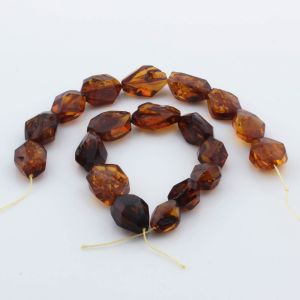 Natural Baltic Amber Loose Beads Strings Set of 2pcs. 39gr. ST976
