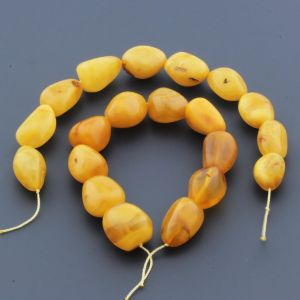 Natural Baltic Amber Loose Beads Strings Set of 2pcs. 42gr. ST984