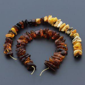 Natural Baltic Amber Loose Beads Strings Set of 2pcs. 38gr. ST777