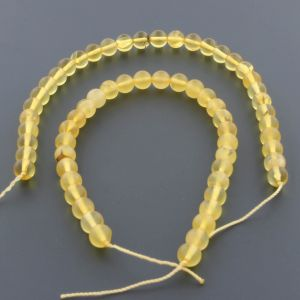 "Natural Baltic Amber Loose Beads Strings Set of 2 Pcs. 20cm / 7.87"" - Round. ST530"