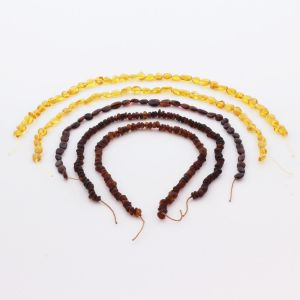 Natural Baltic Amber Loose Beads Strings Set of 4pcs. 28gr. ST785