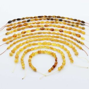 Natural Baltic Amber Loose Beads Strings Set of 10pcs. 53gr. ST1319
