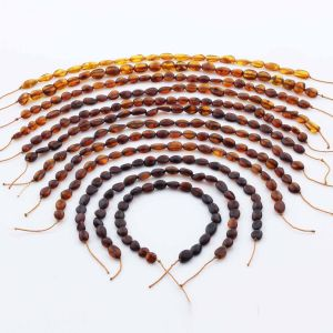 Natural Baltic Amber Loose Beads Strings Set of 12pcs. 49.4gr. ST1322