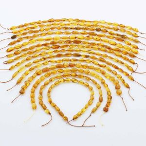 Natural Baltic Amber Loose Beads Strings Set of 14pcs. 54gr. ST1323