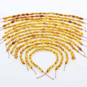 Natural Baltic Amber Loose Beads Strings Set of 14pcs. 51gr. ST1324
