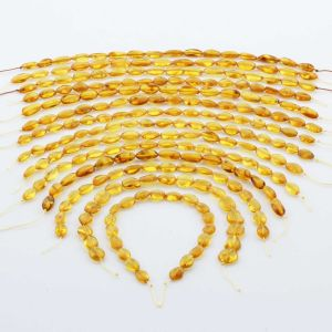 Natural Baltic Amber Loose Beads Strings Set of 14pcs. 66.6gr. ST1325