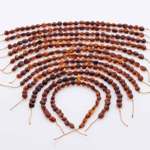 Natural Baltic Amber Loose Beads Strings Set of 12pcs. 65.5gr. ST1334