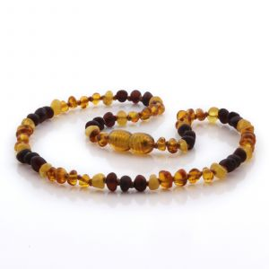 Natural Baltic Amber Teething Necklace. Baroque LE106