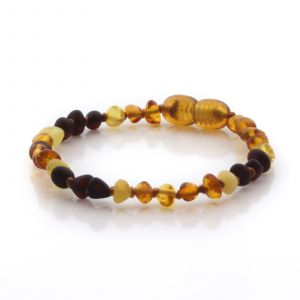 Natural Baltic Amber Teething Bracelet. Baroque LE106