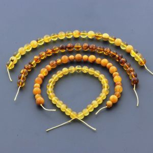 Natural Baltic Amber Loose Beads Strings Set of 4pcs. 31gr. ST1100