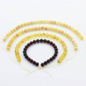 Natural Baltic Amber Loose Beads Strings Set of 4pcs. 22gr. ST1102