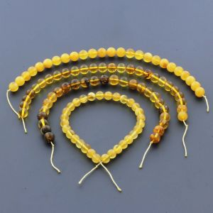 Natural Baltic Amber Loose Beads Strings Set of 4pcs. 27gr. ST1104