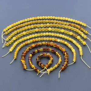 Natural Baltic Amber Loose Beads Strings Set of 9pcs. 38gr. ST1110